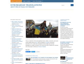 euromaidantranslations.wordpress.com screenshot