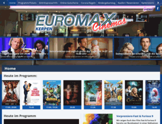 euromax-cinemas.de screenshot