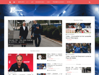europafoot.com screenshot