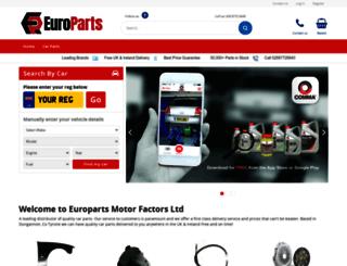 europarts-motorfactors.com screenshot