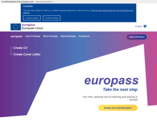 europass.cedefop.europa.eu screenshot