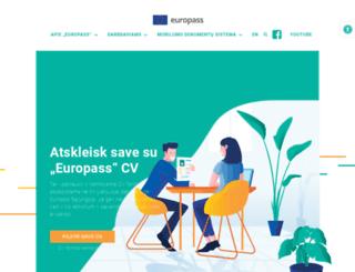 europass.lt screenshot