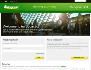 europcar.biz screenshot