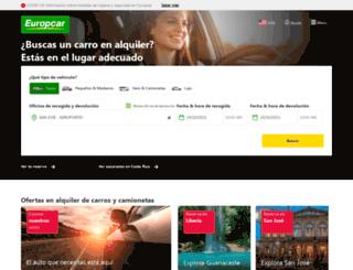 europcar.co.cr screenshot