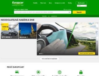 europcar.cz screenshot