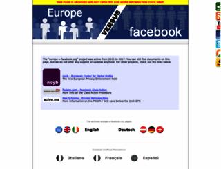 europe-v-facebook.org screenshot