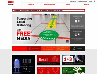 europe.oki.com screenshot