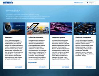 europe.omron.com screenshot