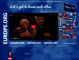 europe.org screenshot