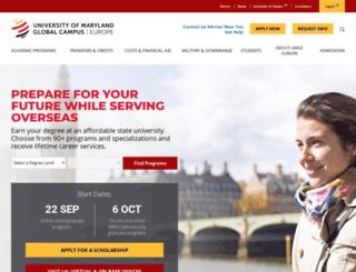 europe.umuc.edu screenshot