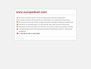 europe4sail.com screenshot