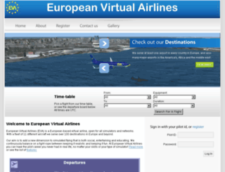 european.virtualairlines.eu screenshot