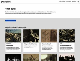 europeana1914-1918.eu screenshot