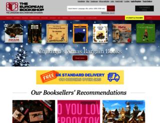 europeanbookshop.com screenshot