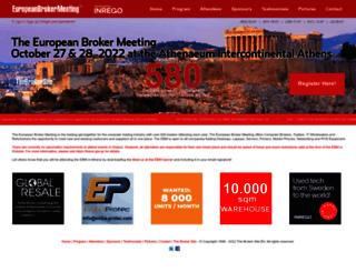 europeanbrokermeeting.com screenshot