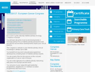 europeancancercongress.org screenshot