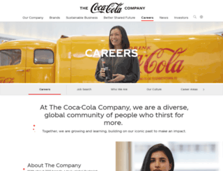 europeancareers.coca-cola.com screenshot
