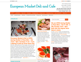 europeanfoodbayarea.com screenshot
