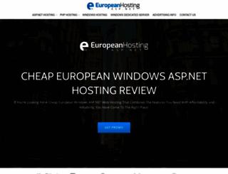 europeanhostingasp.net screenshot