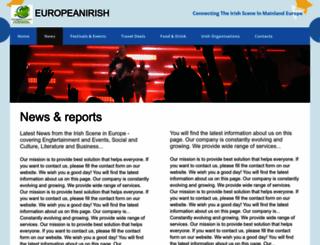 europeanirish.com screenshot