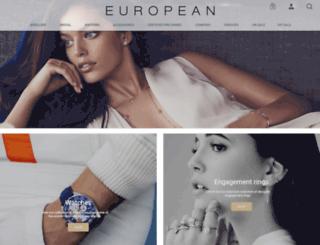 europeanjewellery.com screenshot