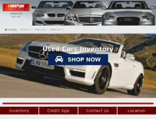 europeanmotorscorp.com screenshot