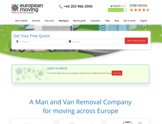 europeanmoving.co.uk screenshot