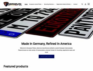europeanplates.com screenshot