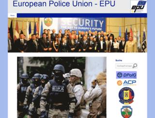 europeanpoliceunion.eu screenshot