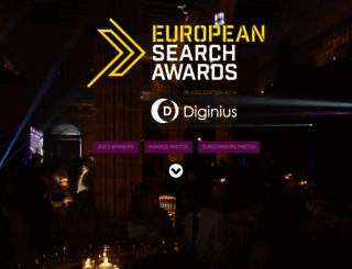 europeansearchawards.com screenshot
