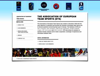 europeanteamsports.com screenshot