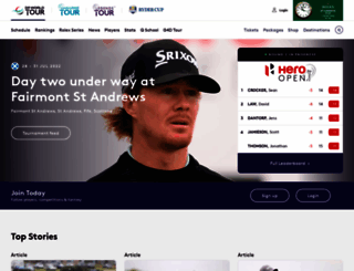 europeantour.com screenshot