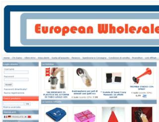 europeanwholesale.eu screenshot