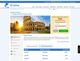 europecruises.com screenshot
