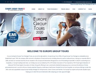 europegrouptours.org screenshot