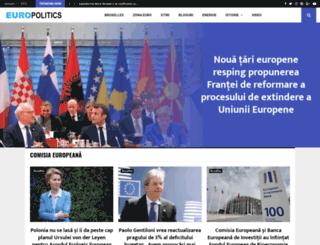 europolitics.ro screenshot
