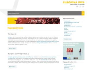 europskaunia.sk screenshot