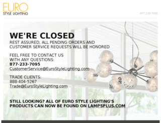 eurostylelighting.com screenshot