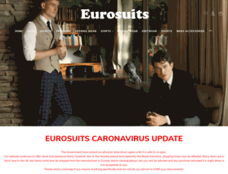 eurosuits.co.uk screenshot