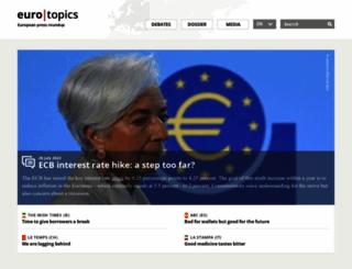 eurotopics.net screenshot