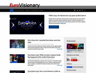 eurovisionary.com screenshot