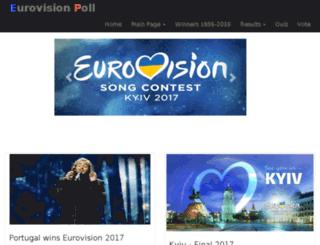 eurovisionpoll.com screenshot