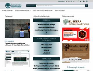 euskaltzaindia.net screenshot
