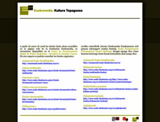 euskomedia.org screenshot