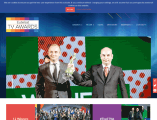 eutelsattvawards.com screenshot