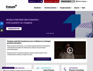 evaluategroup.com screenshot