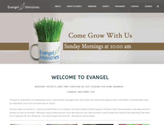 evangelcommunity.com screenshot
