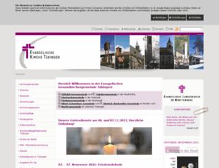 evangelische-gesamtkirchengemeinde-tuebingen.de screenshot
