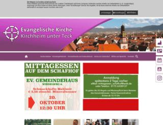 evangelische-kirche-kirchheim-teck.de screenshot