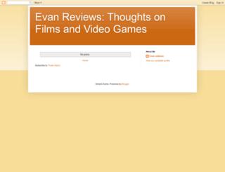 evanreviews.blogspot.com screenshot